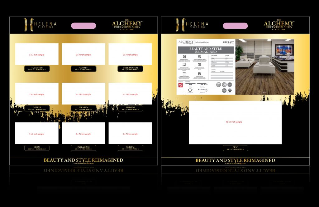 helena alchemy collection hardwood flooring sample board